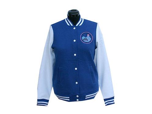 J&J-702–Letterman Fleece Jacket