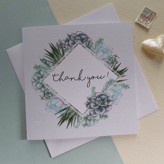 Succulent Collection Thank You Card