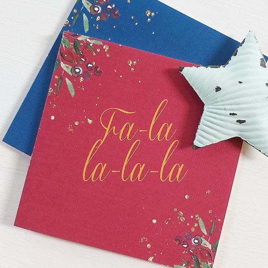 Fa-la-la-la-la Christmas Card