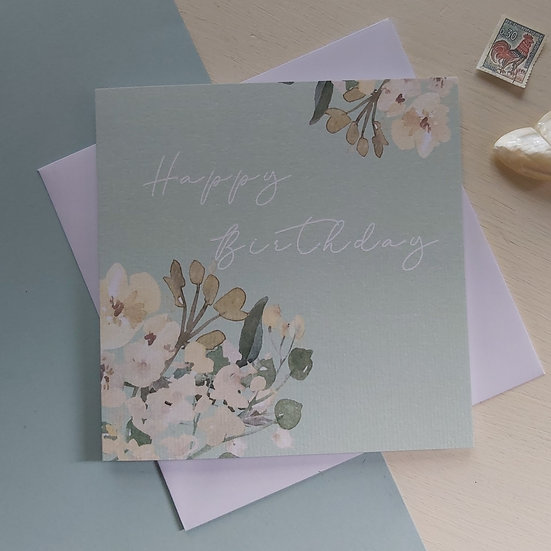 Sage Collection Happy Birthday Greetings Card