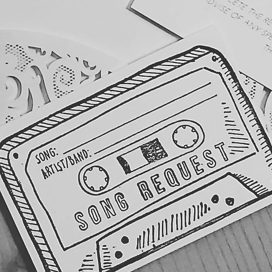 Wedding Song Request Card