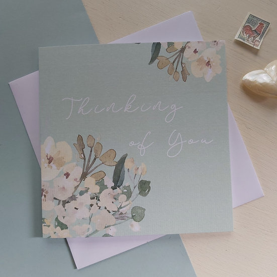 Sage Collection Thinking of You Greetings Card