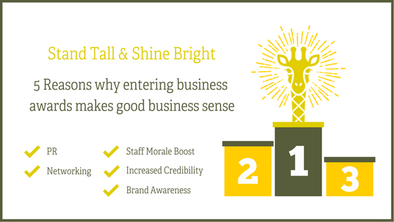 5 reasons why entering business awards makes good business sense