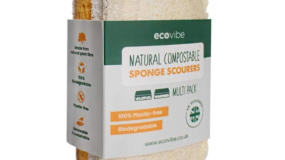 Compostable Sponge & Scourer Duo Pack
