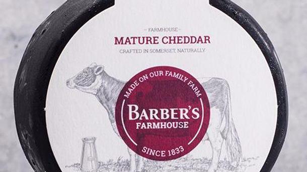 BARBER'S FARMHOUSE WAXED TRUCKLE CHEDDAR 200G
