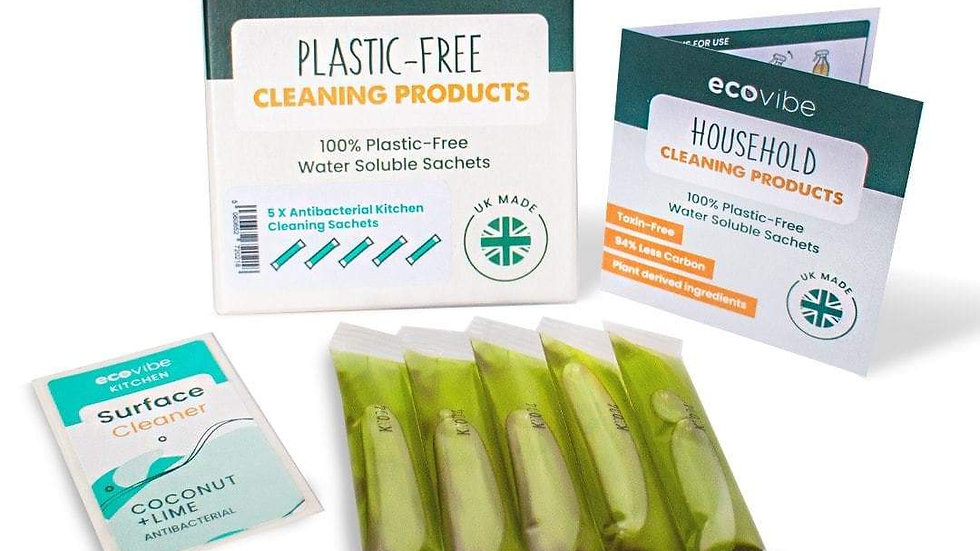 Plastic-Free Soluble Kitchen Cleaner (5 Pack) - Antibacterial�