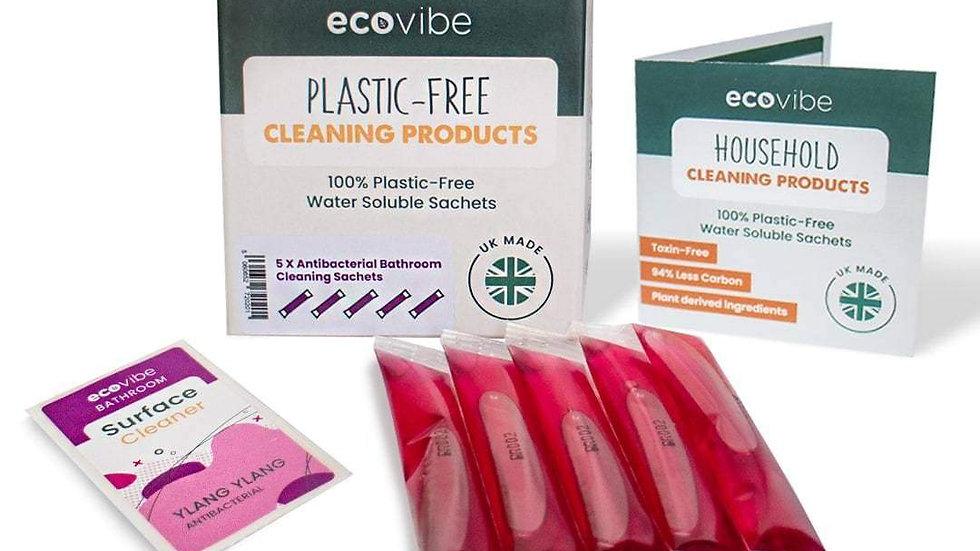 Plastic-Free Soluble Bathroom Cleaner (5 Pack) - Antibacterial�