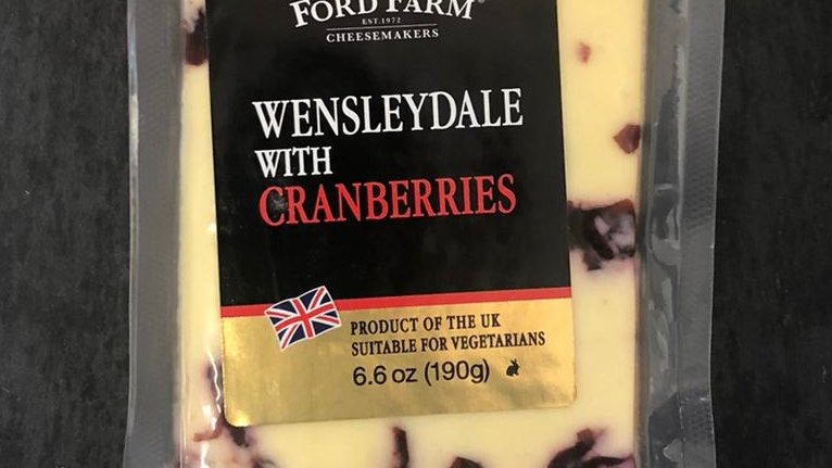 Wensleydale with Cranberries 190G