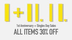 1st Anniversary + Singles Day Sales