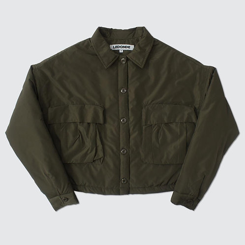 L.D.D FLIGHT JACKET SHORT CUT - DGRE