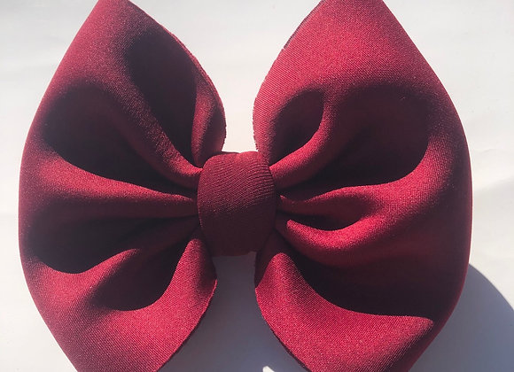 Burgundy Puff-Signature Bow