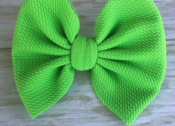 Neon Green- Signature Bow