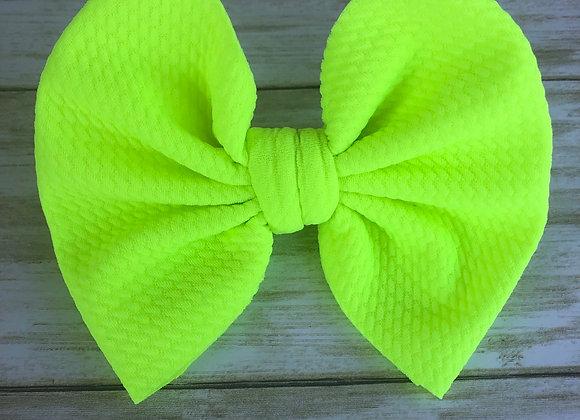 Neon Yellow- Signature Bow