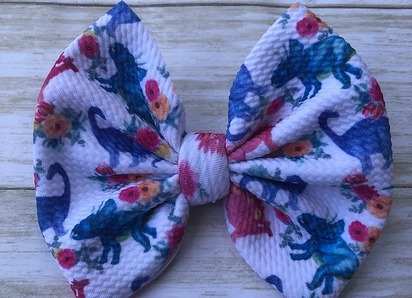 Floral Dino- Signature Bow