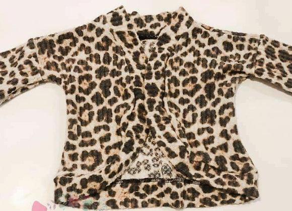 Leopard Cardigan (size 4y-8y)