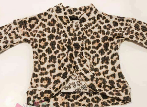 Leopard Cardigan (size 3m-3y)