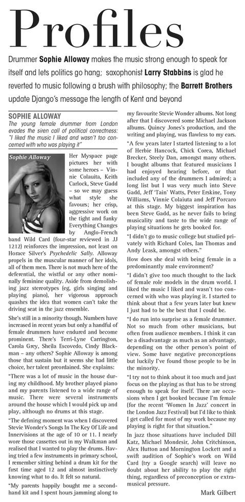 Jazz Journal, May 2013.