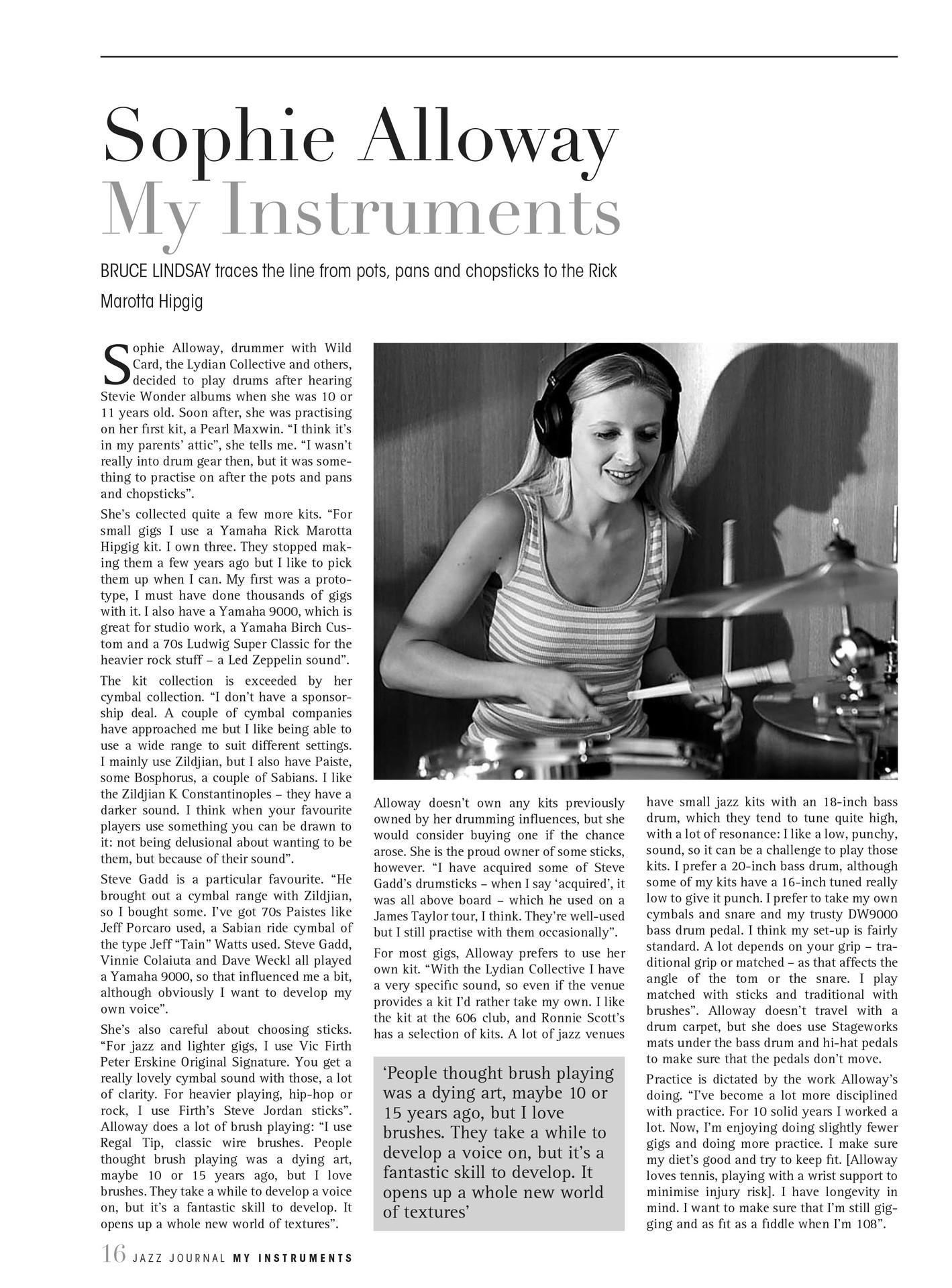 Jazz Journal, October 2018.