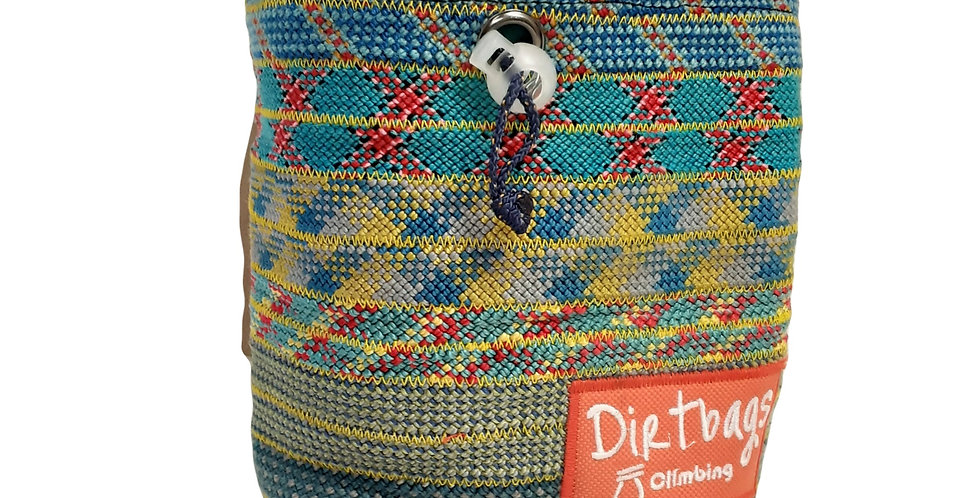 Dirtbags Climbing Recycled Chalk Bag - Blue/Yellow