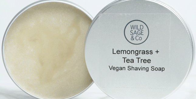 Wild Sage + Co Lemongrass + Tea Tree Shaving Soap