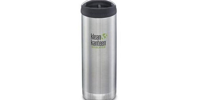 Klean Kanteen TKWide 473ml Vacuum Insulated Flask - Brushed Stainless Steel