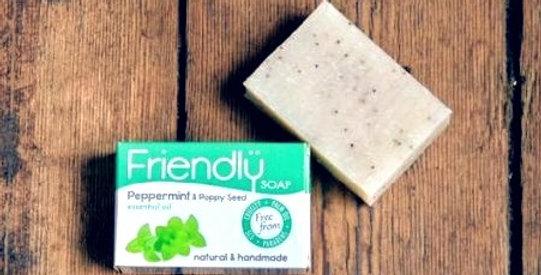 Friendly Soap - Peppermint + Poppy Seed