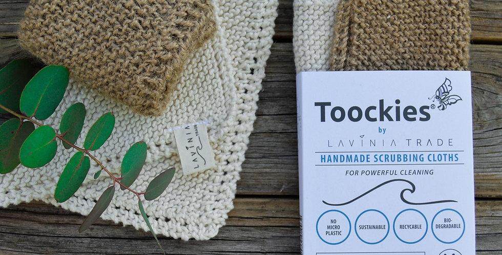 Toockies Organic Handmade Scrubbing Cloths