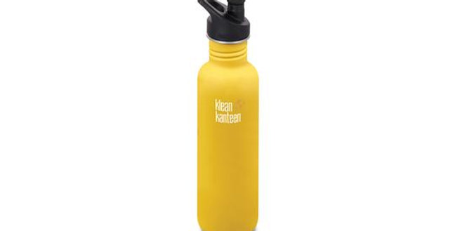 Klean Kanteen Classic 800ml Single Wall Bottle - Lemon Curry (Matt)