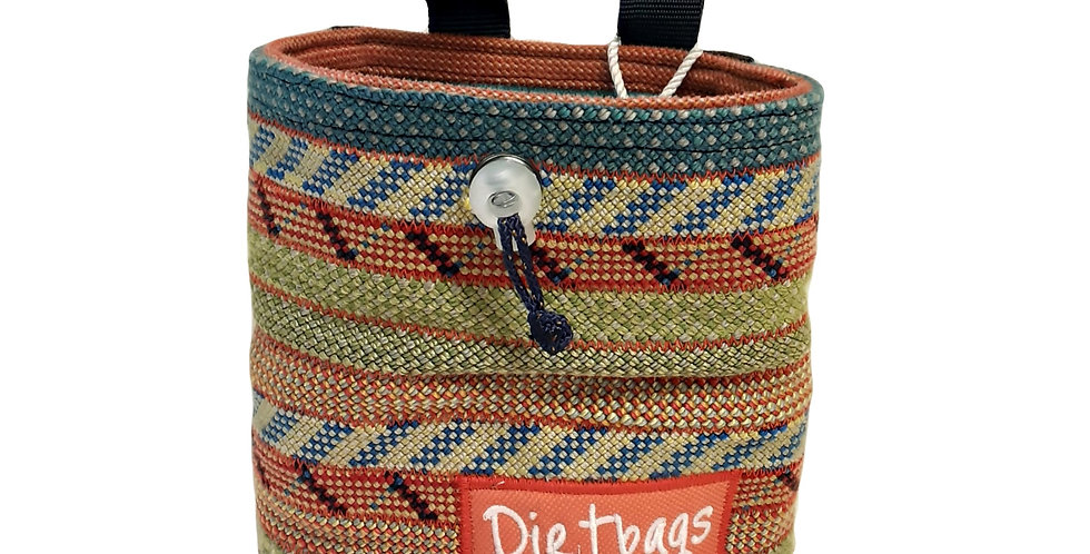 Dirtbags Climbing Recycled Chalk Bag - Orange/Green