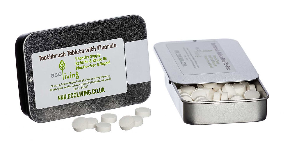 Eco Living Toothpaste Tabs with Fluoride
