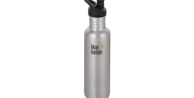 Klean Kanteen Classic 800ml Single Wall Bottle - Brushed Stainless Steel
