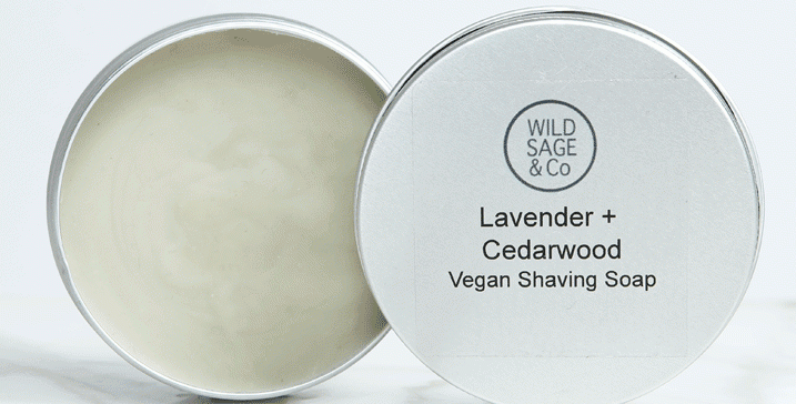 Wild Sage + Co Lavendar + Cedarwood Shaving Soap