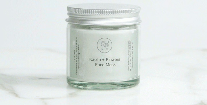 Wild Sage + Co Kaolin + Flowers Face Mask