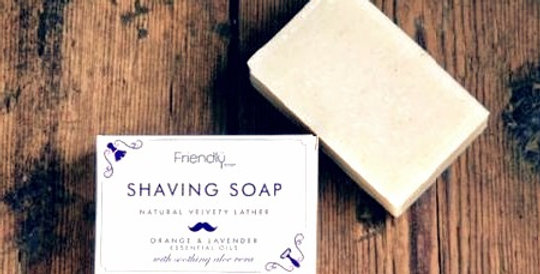 Friendly Soap - Lavender + Orange Shaving Soap Bar