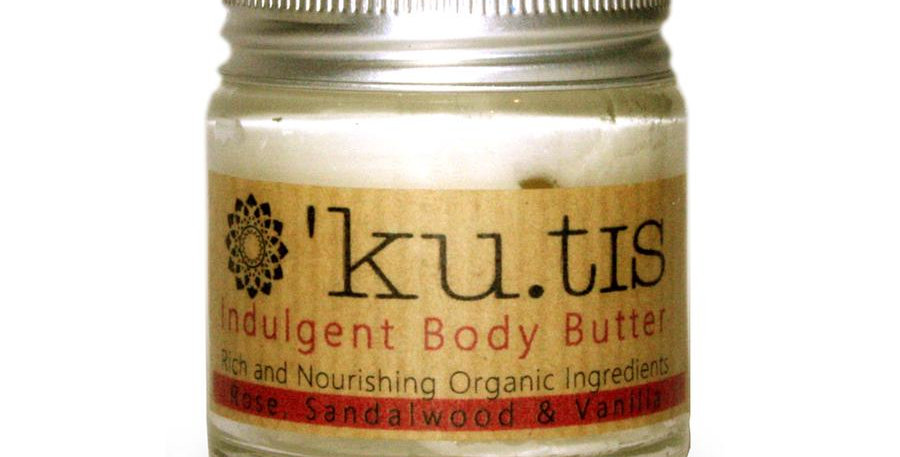 Kutis Organic Body Butter - Rose Sandalwood + Vanilla