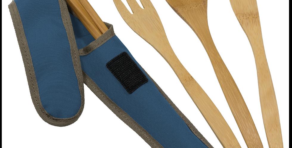 To-Go Ware Bamboo Cutlery Set - Indigo