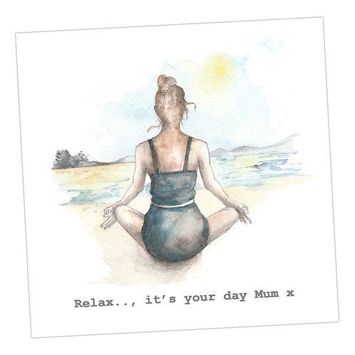 Relax Mum Yoga card