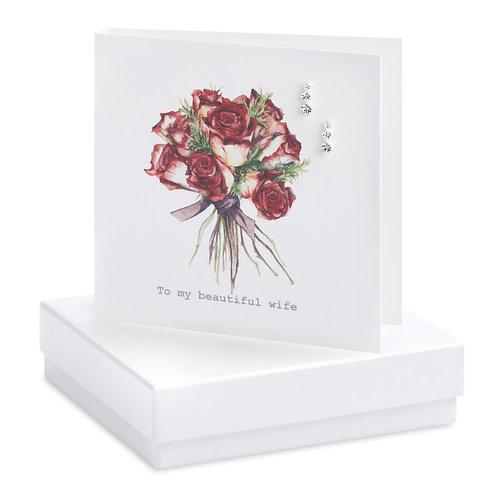 Boxed Beautiful Wife Earring Card