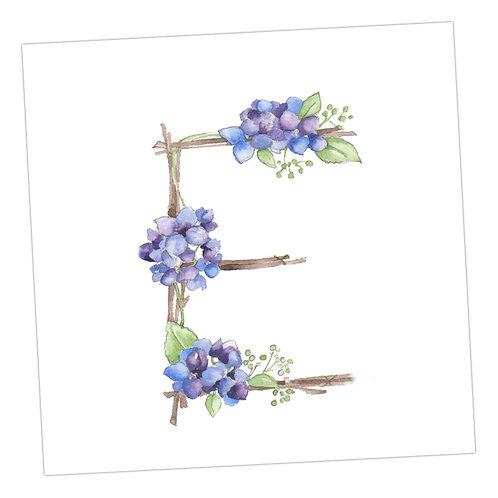 Floral Letters E