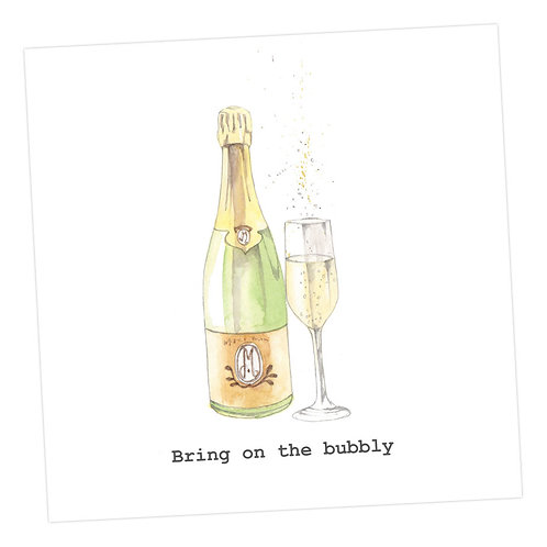 Bring on the bubbly Card