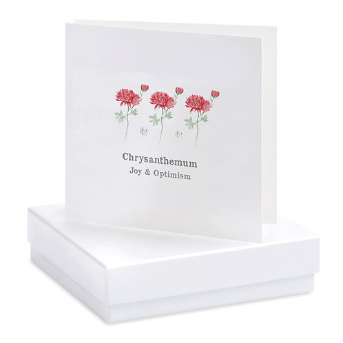 Boxed Chrysanthemum Earring Card