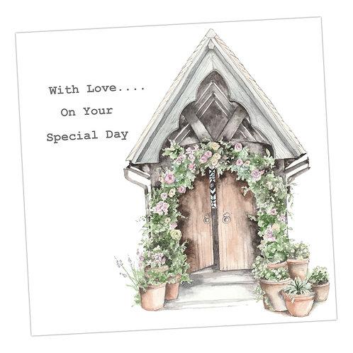Church Doorway Wedding Card