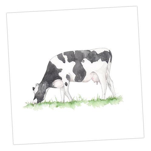 Black & White Cow Card