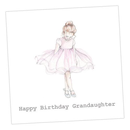 Ballerina Granddaughter Card