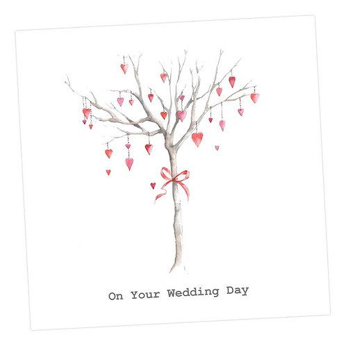 Heart Tree Wedding Card