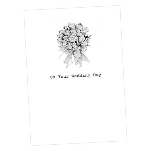 On Your Wedding Day Bouquet Card