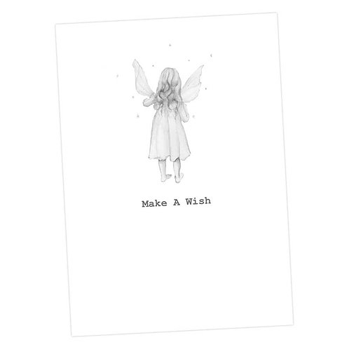 Fairy Rose Make a Wish Card