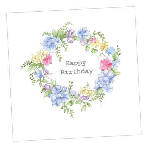 Birthday Hydrangea Wreath