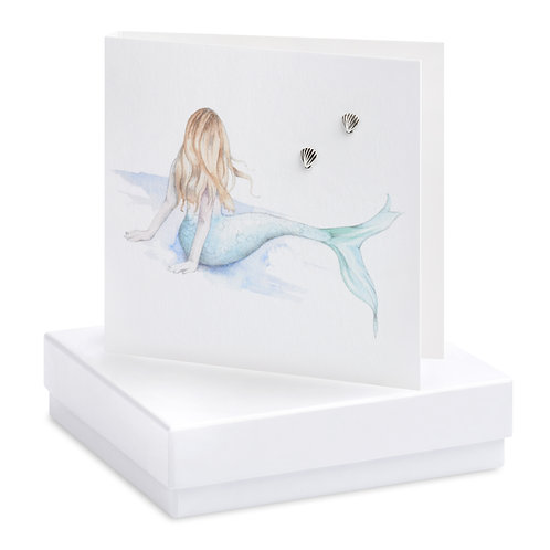 Boxed Mermaid Earring Card