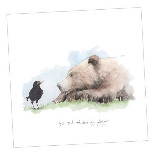 Bear & Blackbird Card